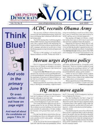 Think Blue! - Arlington County Democratic Party