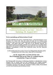 Gr-366nsfurth Programm - kurz