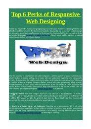 Top 6 Perks of Responsive Web Designing