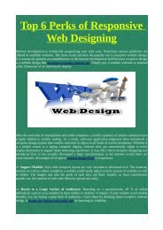 Top 6 Perks of Responsive Web Designing