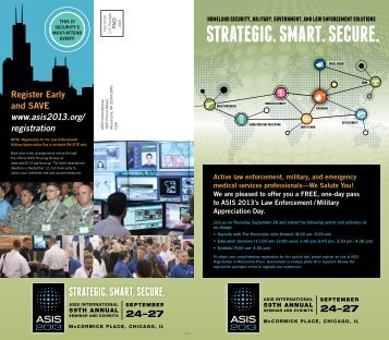the ASIS 2013 Seminar Flyer - Illinois Law Enforcement Alarm System