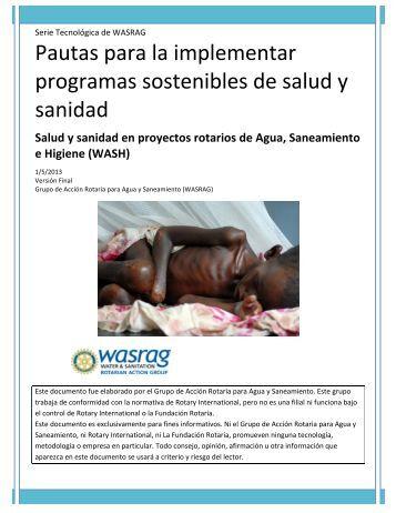 Pautas para la implementar programas sostenibles de salud y sanidad
