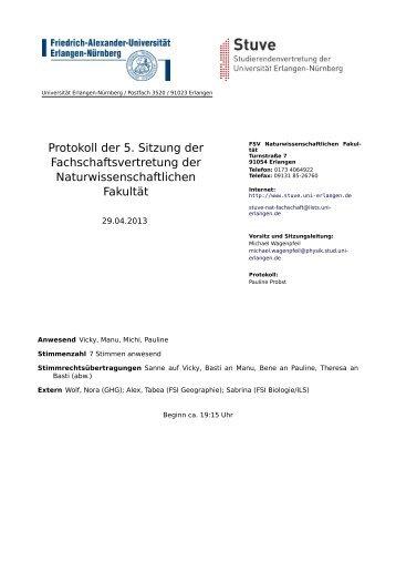 29.04.2013 - Stuve Uni Erlangen-Nürnberg