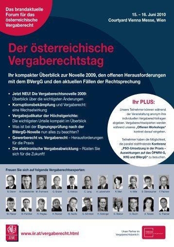 Der österreichische Vergaberechtstag - DSC Rechtsanwälte
