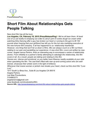 Short Film About Relationships Gets People Talking