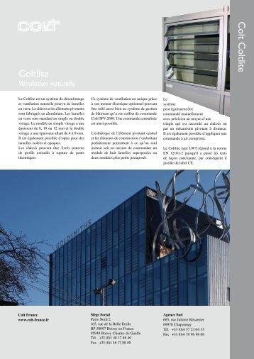 Documentation Coltlite Fiche produit Coltlite - dthX
