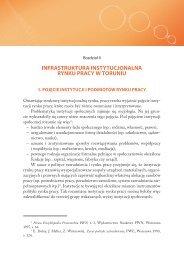 Rozdział II - budowa systemu przepływu informacji o rynku pracy w ...