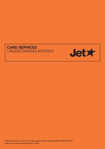 CARD SERVICES UNDERSTANDING INTEREST