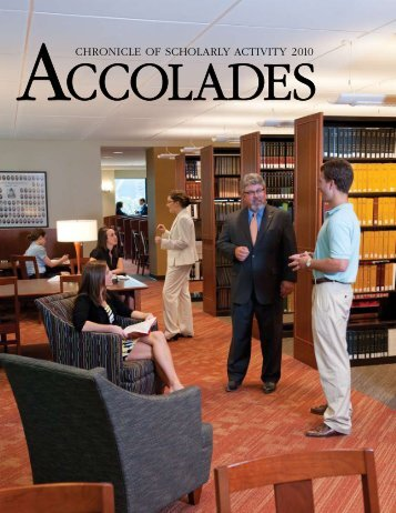 ChroniCle of SCholarly aCtivity 2010 - Campbell University