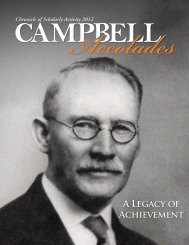 2012 Edition - Campbell University