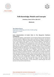 Folk Knowledge: Models and Concepts