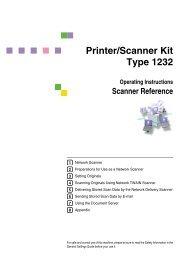 Scanner Reference - Savin Corporation