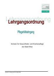 Pflegehilfe_Lehrgangsordnung 2010 - Nurse-Communication