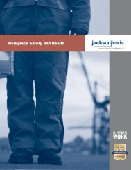 Workplace Safety and Health Brochure - Jackson Lewis
