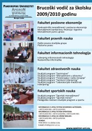 Brucoški vodič za školsku 2009/2010 godinu - Panevropski ...