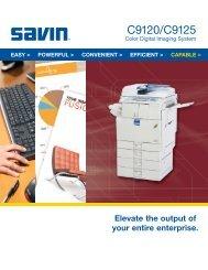 C9120/C9125 - Savin Corporation
