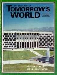 Tomorrows World 1969 (Vol I No 01) Jun - Herbert W. Armstrong ...