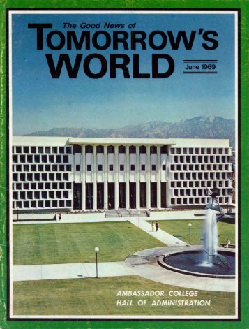 Tomorrows World 1969 (Vol I No 01) Jun - Herbert W. Armstrong ...