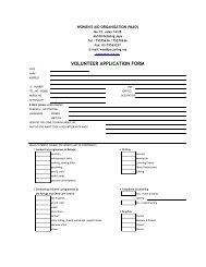 VOLUNTEER APPLICATION FORM - Women's Aid Organisation