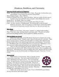 Hinduism, Buddhism, and Christianity - Iowaeastdeaf.org