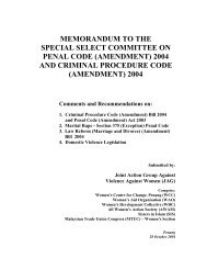 memorandum to the special select committee on penal code