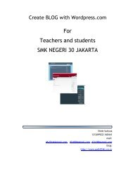 For Teachers and students SMK NEGERI 30 JAKARTA