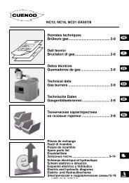 Техническая информация NC12, NC16, NC21 GX507/8