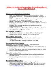 Bericht von der Generalversammlung des Bundesvereins am 12.11 ...
