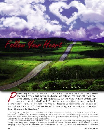 28-32 Follow Your Heart:Master Galley - Plain Truth Ministries
