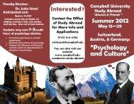 Switzerland - Campbell University