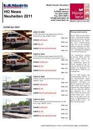 HO News Neuheiten 2011 - Modell Center Hünerbein
