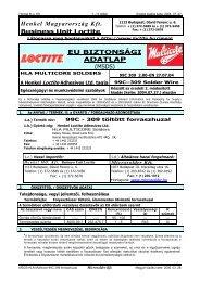 MSDS - Microsolder Kft.