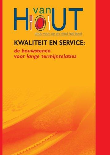 KWALITEIT EN SERVICE: