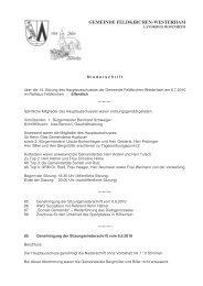 GEMEINDE FELDKIRCHEN-WESTERHAM