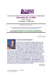 Newsletter Nr. 13 - Nurse-Communication