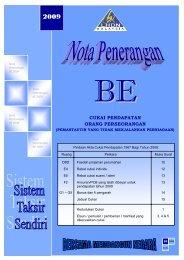 Nota Penerangan BE 2009 - Lembaga Hasil Dalam Negeri