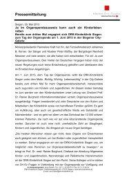 Pressemeldung als PDF zum Download - DRK-Kinderklinik Siegen