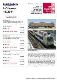 LS Models News 16/2011 - Modell Center Hünerbein