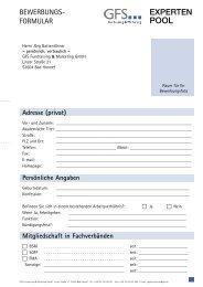 Adresse (privat) - GFS Fundraising & Marketing GmbH
