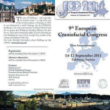 9th European Craniofacial Congress 14-17 September 2011 ...