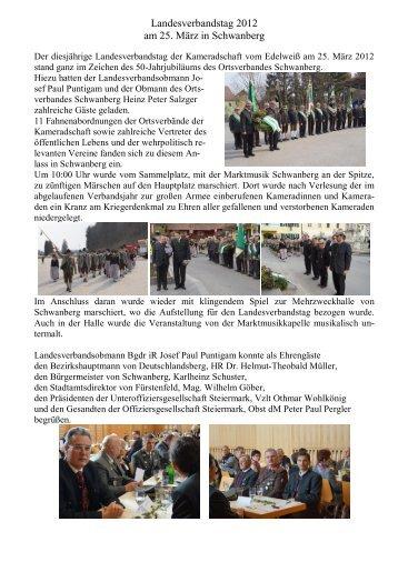 Landesverbandstages 2012 - Kameradschaft vom Edelweiß