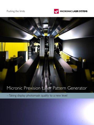 Micronic Prexision Laser Pattern Generator