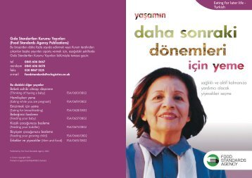 Later life Turkish a/w - Food Standards Agency