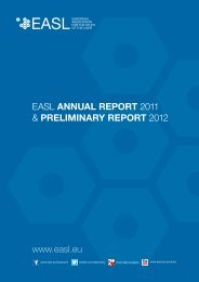 easl annual report 2011 & preliminary report 2012 - European ...