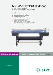 Siebdruck & Werbetechnik Roland SOLJET PRO III XC-540