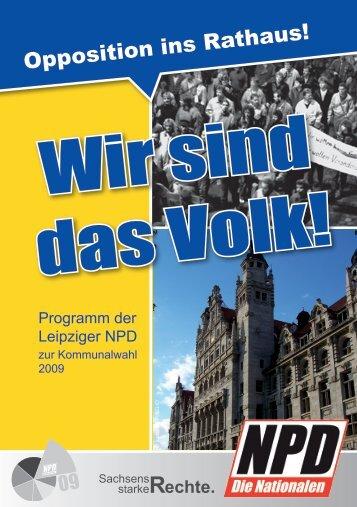 Opposition ins Rathaus! - NPD Kreisverband Leipzig