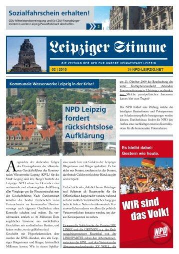 Ausgabe 2010 - Die NPD in Leipzig