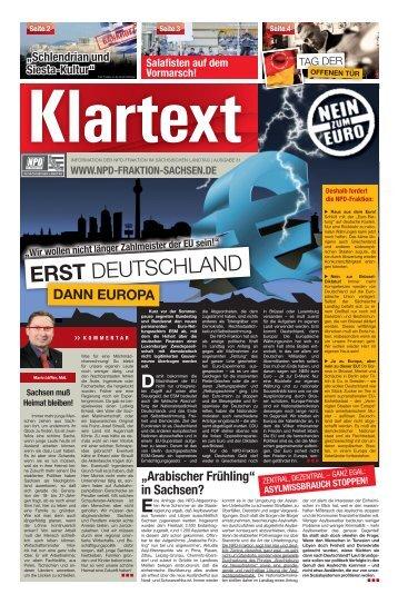 erst Deutschland, dann Europa! - NPD-Fraktion im Sächsischen ...