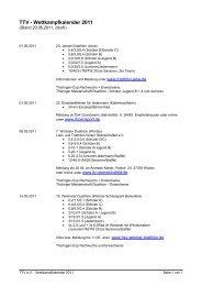 Wettkampfkalender 2011 - Thüringer Triathlon Verband eV
