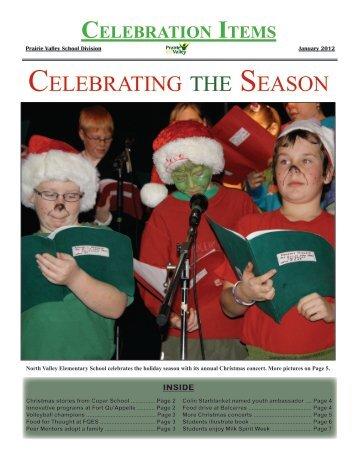 January 2012 Celebration Items - Prairie Valley School Division